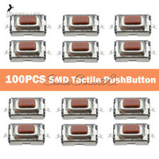 [100PCS] 50Hz SMD Tactile PushButton Key Switch Momentary Tact 2 Pins 3x6x2.5mm