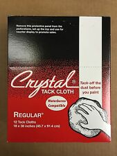 "Bond Crystal Tack Cloth Set of 12 18"" X 36"" Waterborne Compatible CRS1 USA SHIP"