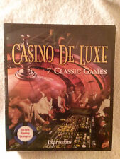 Casino De Luxe 7 Classic Games Software PC New in Box 1995, E10+ (Everyone 10+)