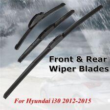 26'' 14'' 13'' Front Rear Windshield Wiper Blades For Hyundai i30 2012-2015 AU