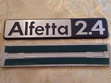 sigla ALFETTA 2.4 alfa romeo scritta posteriore fregio originale rear sign badge