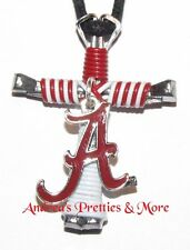 Disciple's Cross Horseshoe Nail Necklace - Wire Wrapped Cross - Alabama Logo
