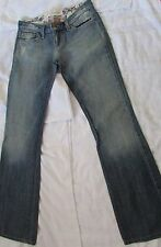 NEW JOE'S W 25 EMBELISHMENT/DESTRUCTED BACK POCKETS STRAIGHT LEG DENIM JEANS