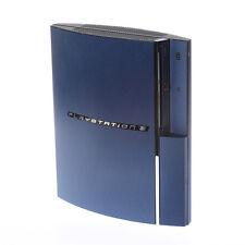 Cepillado Azul Metal efecto Playstation Ps3 Fat calcomanía piel cubierta Wrap