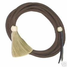 Brown Horse Show Nylon Mecate Reins Horsehair Tack 22'