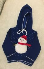 Vintage Mothercare Sweater Snowman Hooded Infant Size 18
