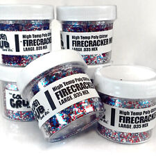 NEW 2 OZ. Jar FIRECRACKER MIX Hi Temp Glitter .030 Fishing red silver blue hex