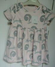 New Next baby girls 100% cotton squirrel dress Pink  6-9 months