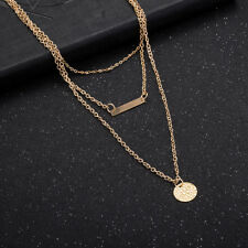 Chic 18k Yellow Gold Plated Two Layers Woman Gift Necklace N-A556