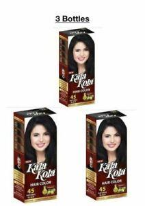 3xBottles(100ml)Kala Kola Hair Color-45 Natural Black With Olive Oil + Vitaman E
