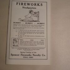 Spencer Fireworks Catalog / Firecrackers, Salutes, Fireworks Plus Free Labels