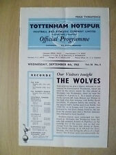 1963 League Division One- TOTTENHAM HOTSPUR v WOLVES, 4 Sept (Org*)