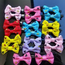 *FREE SHIPPING* 20x Hair Clips Kids Baby Girls Toddlers Colourful Bow Hairpins