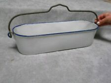 French Vintage ENAMELWARE Steamer or kitchen herbal Planter PLANTER