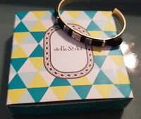 Stella and Dot Wisten Cuff Bracelet | Feather Vintage Gold Beaded Authentic NIB