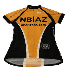 Voler Bicycle Jersey Black and Orange Cycling Shirt Racing Small