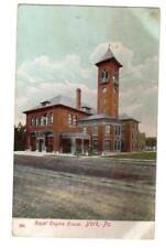 PA - YORK PENNSYLVANIA 1908 Postcard ROYAL FIRE CO ENGINE HOUSE