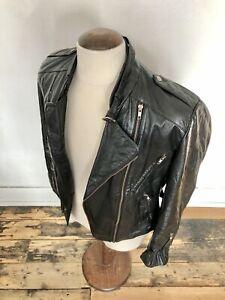 Women's Black Leather Biker Style Jacket