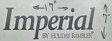 IMPERIAL HOLIDAY RAMBLER RV MOTORHOME CAMPER LOGO DECAL SILVER/GRAY 17X7 GRAPHIC
