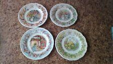 Royal Doulton Brambly Hedge 4 Seasons 6inch Plates.