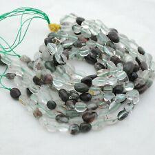 "15"" Strand Natural Green Phantom Quartz Pebble Nugget Beads - 7mm - 10mm"
