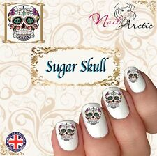 40 x Nail Art Water Transfers Stickers Wraps Decals Sugar Skull Candy Gr2
