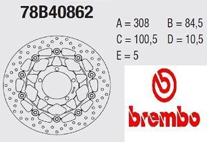 Disco freno BREMBO Serie Oro ANT Triumph 675 STREET TRIPLE R 07 > 12