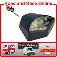 Motorcycle Number Plate LIGHT Small 12v LED Black Self Adhesive Light