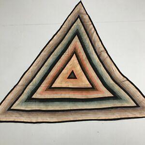 Paul Smith 100% Silk Triangle Neck Scarf Multicolour 'Mainline' Print 181148