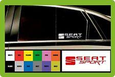 Asiento Sport - 2 X Coche Decal Pegatinas-se adapta a cualquier asiento - 195mm De Largo-Elección del Color!