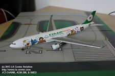 JC Wing Eva Air Airbus A330-200 Around The World Color Diecast Model 1:200