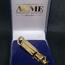 Factory Gold Plated  Metropolitan Police Emergency Whistle With Swivel