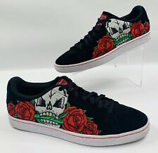 Puma Mens Suede Court Classic Day of the Dead Skull/Roses Size 11 - Worn Once