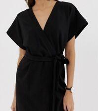 Asos Black Kimono Sleeve Wrap Dress. Size 12 Price $39 New With Tags.