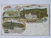 Ak Gruss vom Scheergrund, 1898 gelaufen, Verlag Adolph Thallwitz, Döbeln