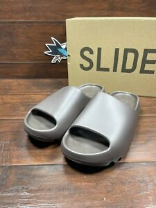 Adidas Yeezy Slide Adults Soot Brown Size 12 GX614 Kanye West 2021 DS New Sandal