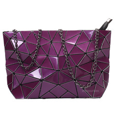 Women Geometric Shoulder Bag Handbag Purse Messenger Tote Satchel Bags - Purple