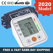 Upper Arm Digital LCD Blood Pressure Monitor Voice BP Cuff Pulse Meter Machine
