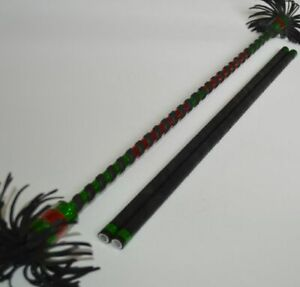 Alu Flowerstick grün/rot Devilstick Flower Devil Stick Sticks Stix Jonglierstäbe