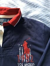 Authentique chemise homme RALPH LAUREN polo rugby top/chemise taille L