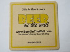 Beer Coaster ~ BEER on the WALL: Internet's Premier Brew Gift Shop & Wine Club