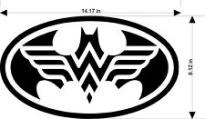 Batman Wonder Woman Decal  Sticker (available in several vinyl colors)