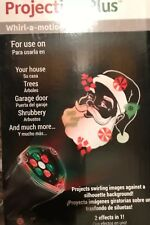 Gemmy Led Lightshow Projection Plus Whirl-a-Motion Santa Red Green New Ch