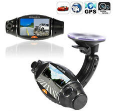 1080P HD 2.7'' Dual Lens Dash Cam Car Video Recorder DVR Camera GPS Logger R310