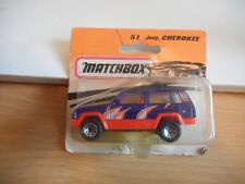 Matchbox Jeep Cherokee in Purple on Blister