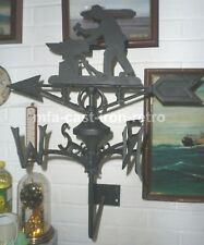 Cast Iron Blacksmith weather-vane wall mount