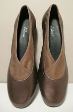 ROS HOMMERSON Women's Bronze Leather  Slip-On Low Heel Loafers Sz 11W