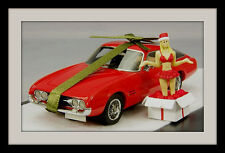 wonderful modelcar GHIA FIAT 230S  COUPE  1963 - red  - 1/43 - (X-MAS-Edition)
