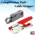 RG58 RG59 RG6 Compression Tool + BNC RCA F Cable Stripper Crimper Coax Cable Kit