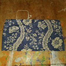 "Pottery Barn ""Tropical Flowers - Blue/Khaki"" 12"" X 20"" Linen Pillow Cover"